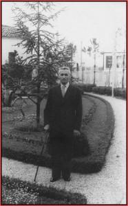il nonno Alessandro Cereda nei primissimi anni dopo la guerra poco prima di morire