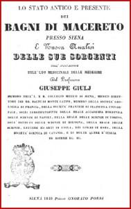 Frontespizio del libro di Giulj